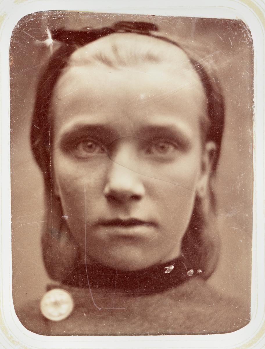 Kabinettskort - Jenny (Hedvig Johanna) Wenster, sannolikt Uppsala, omkring 1890