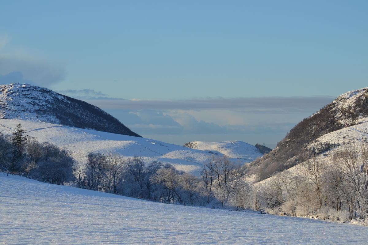 Vinterbilder frå Tjessheim.