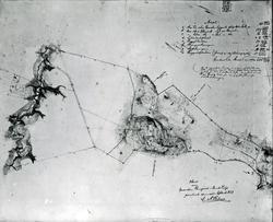 Fotokopi av kart over Gaarden Ringve i Strinde Prstgl. Geome