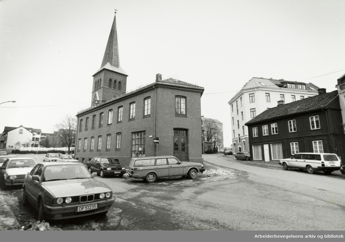 Kampen kirke. Februar 1992