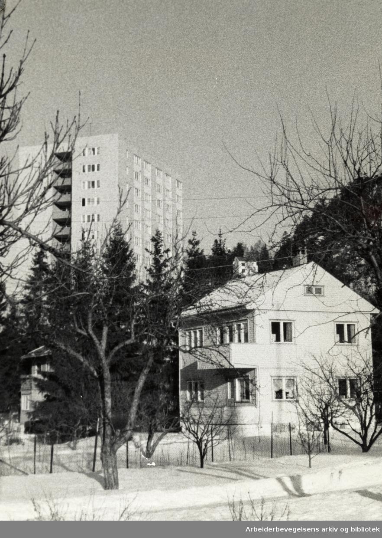 Kjelsås. Hareveien. Januar 1976