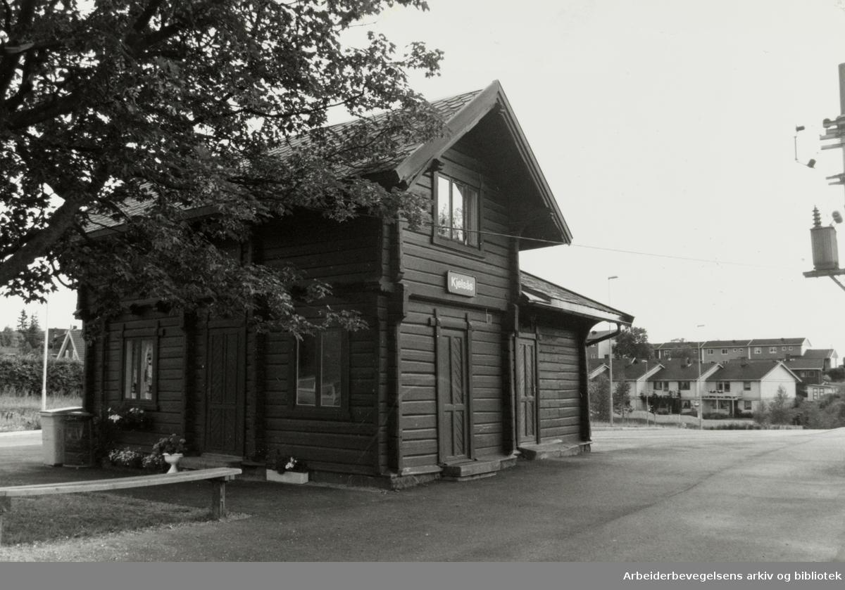 Kjelsås stasjon. 22. juli 1992