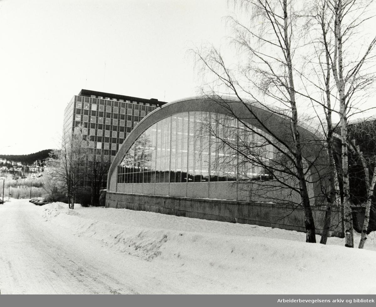 Kjelsås, Tandberganlegget. 3. januar 1978