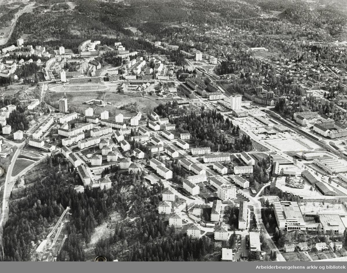Lambertseter. Flyfoto. Mai 1973