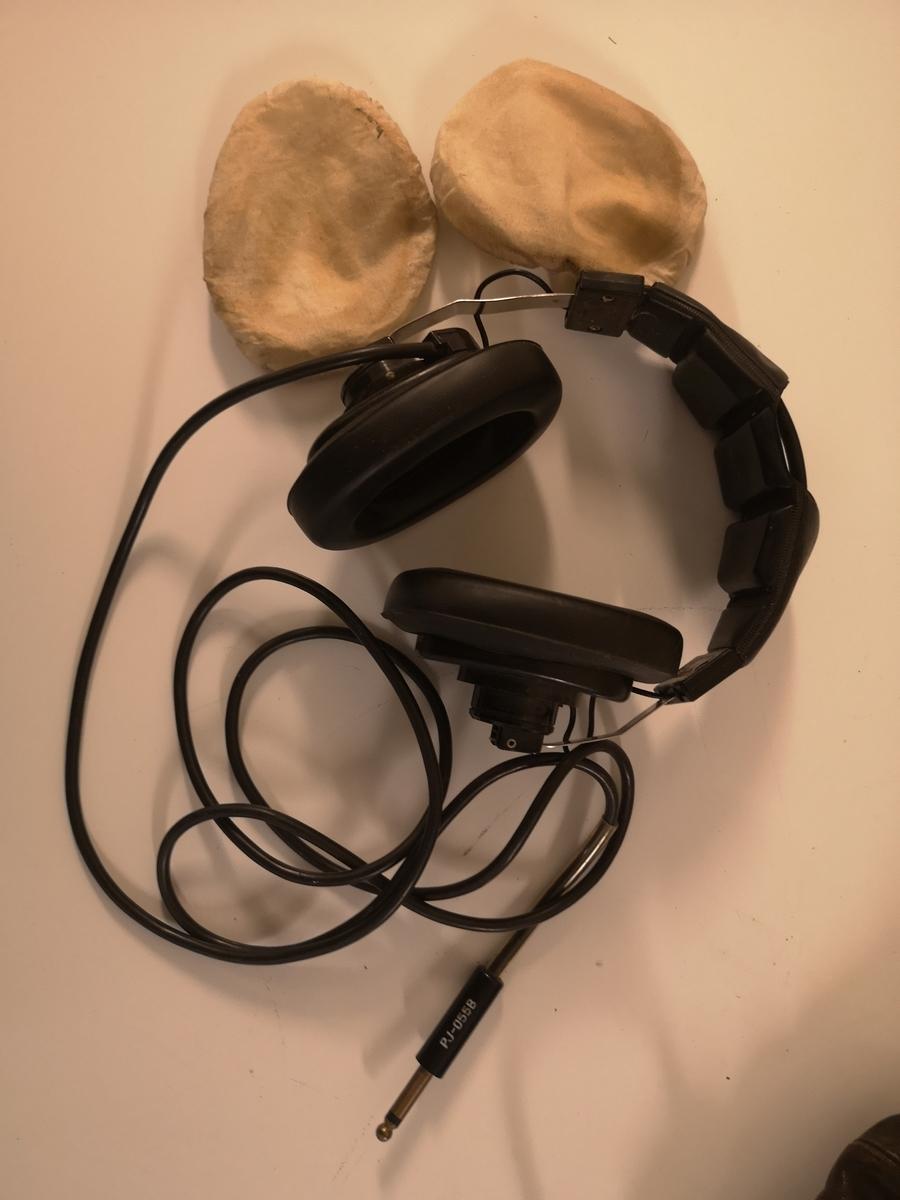 Pilotbriller, hjelm, Headset