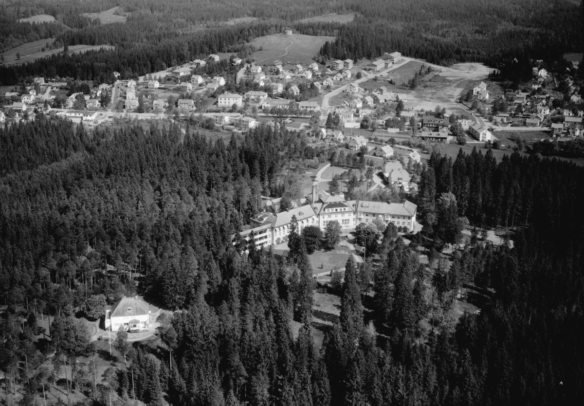 Flygfoto över Sävsjö kommun i Jönköpings län. Nr: 170/1960