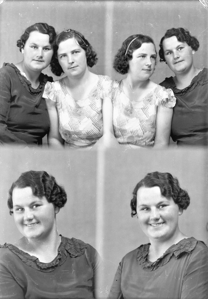 Portrett. To unge kvinner. Bestilt av Frk Anna Søndenå Hausken. Torvestad