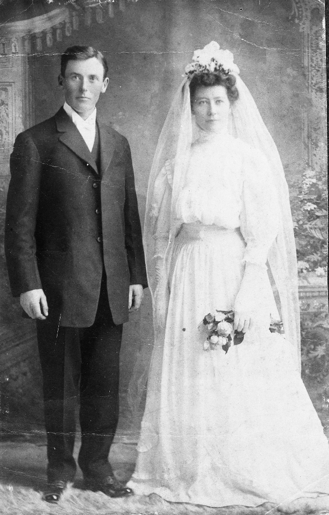 Sven og Grete f. Kalberg Åsland. Dei gifta seg i Amerika.