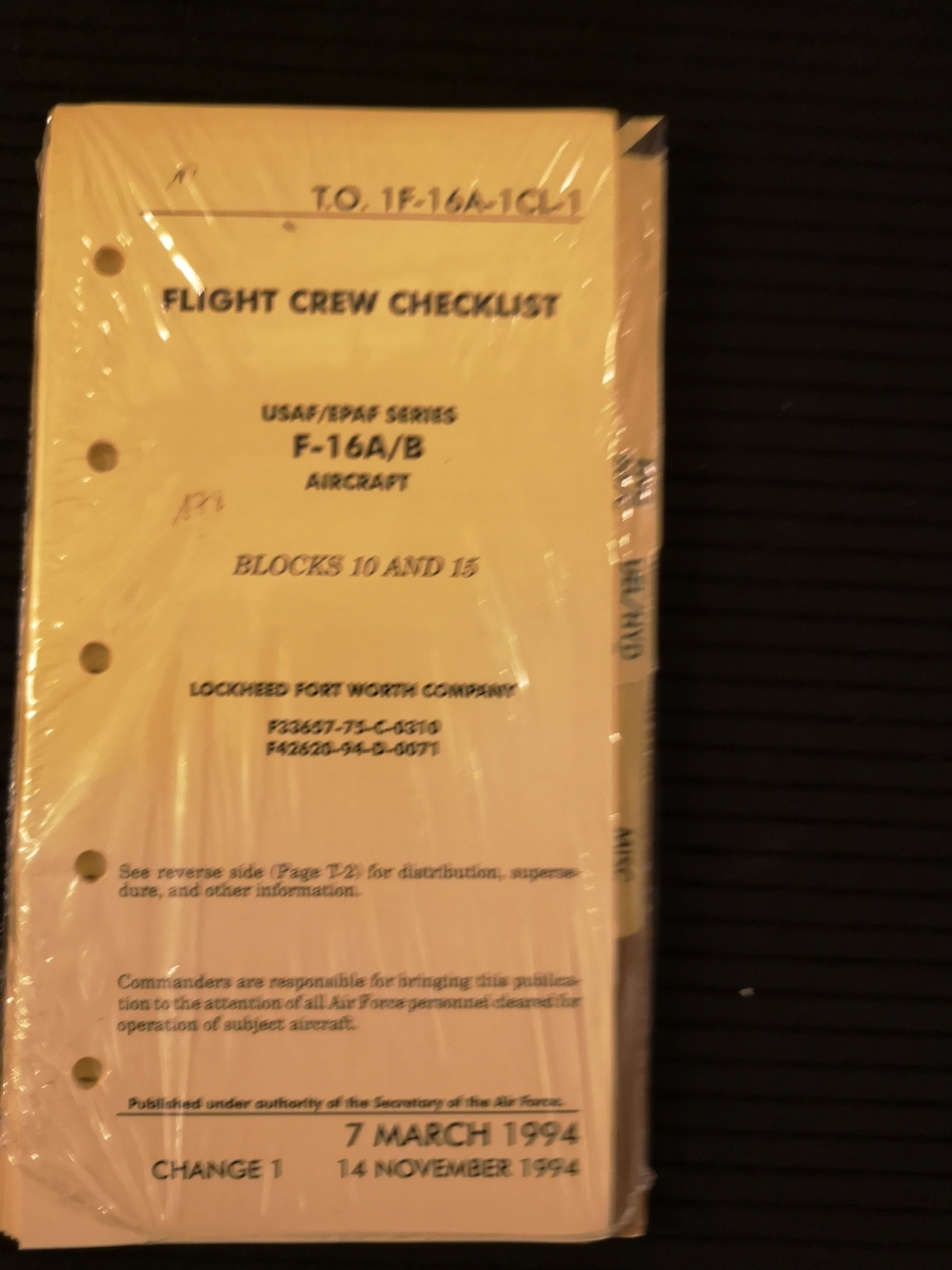 Flight Crew checklist