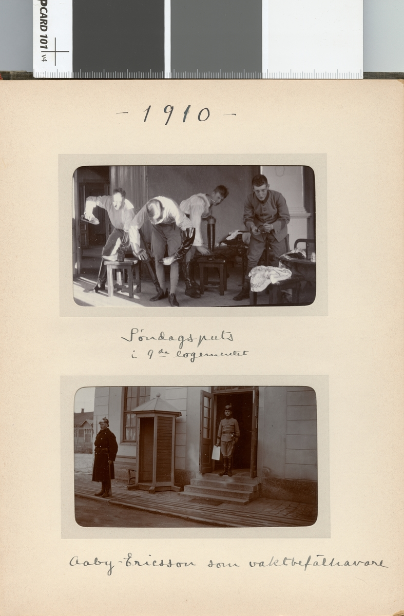 Skoputs en söndag i 9:e logementet på Kavalleriskolan.