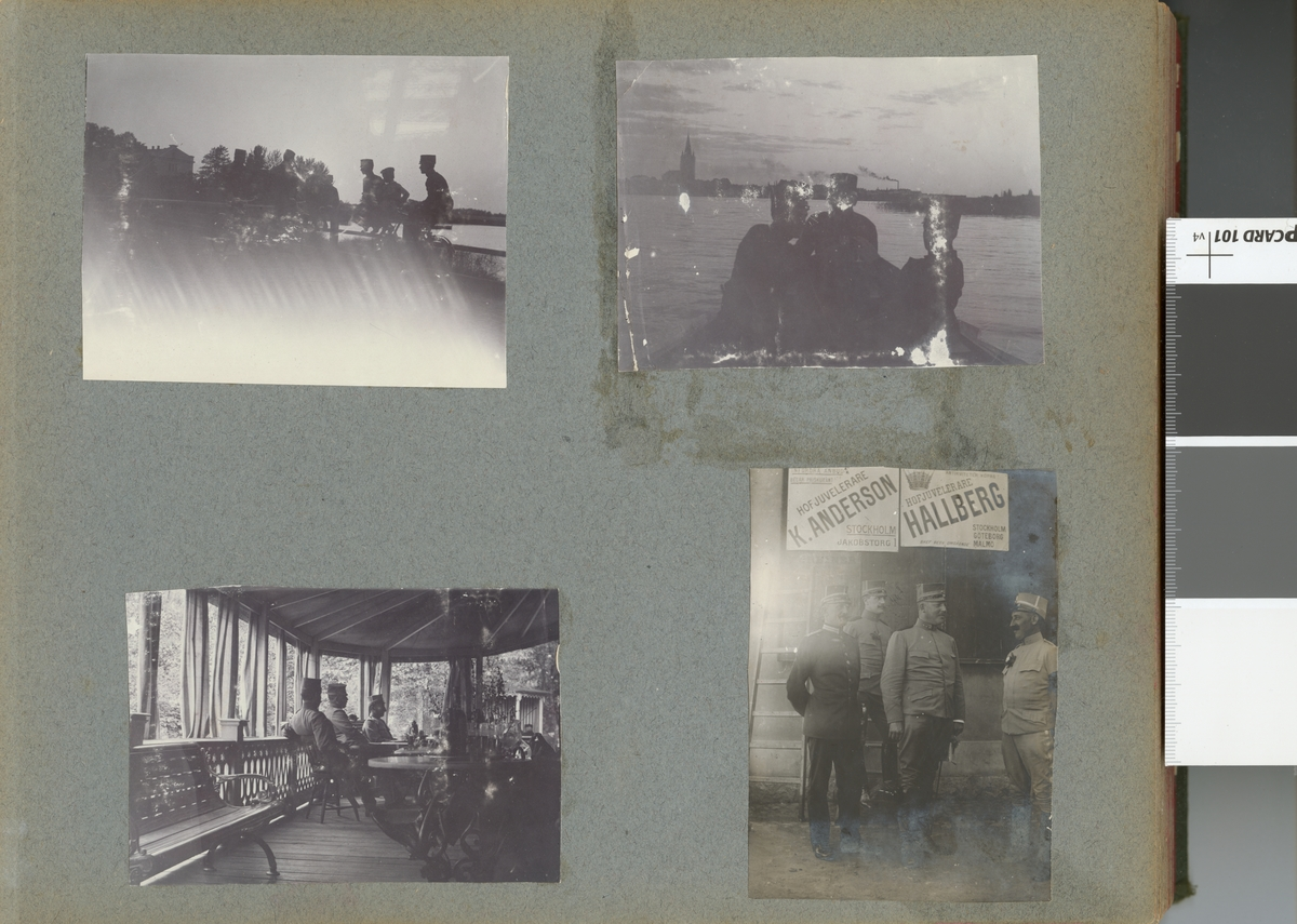 Soldater från Fortifikationen rastar under cykeltur.