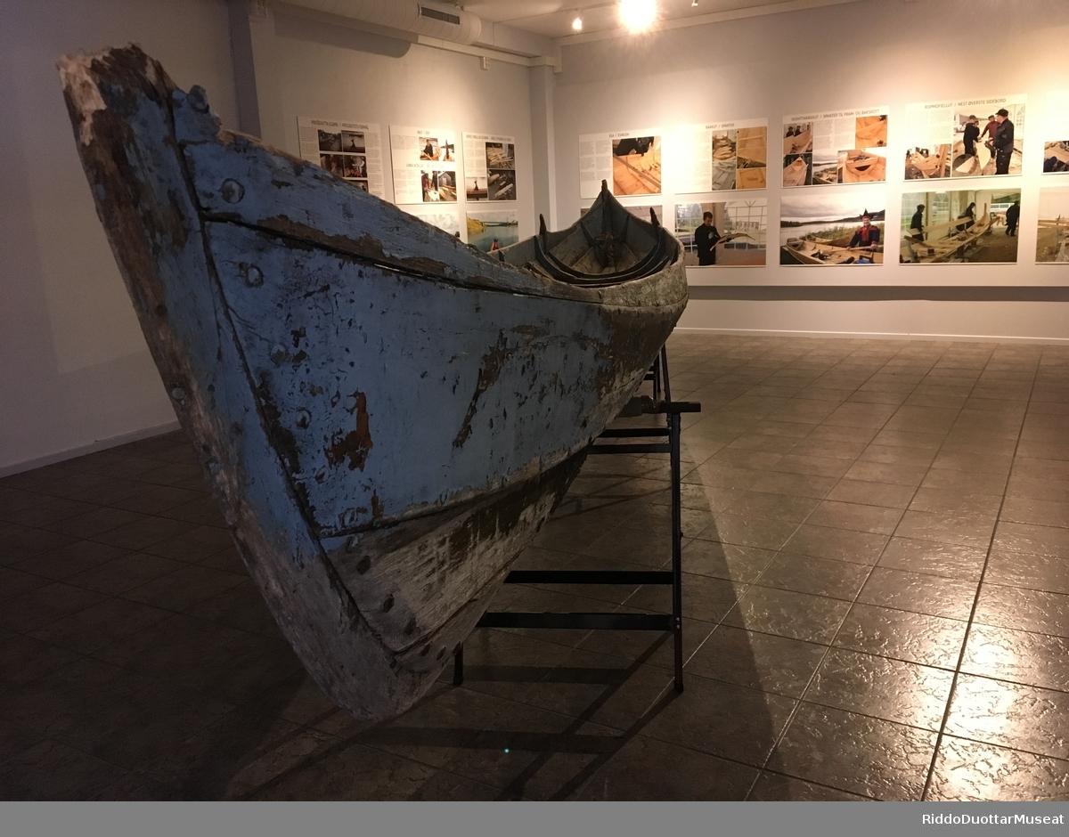 Elvebåt-utstillingen på museet i Lakselv 2018.