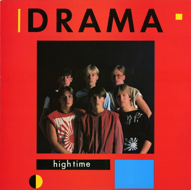 Dramas andre utgivelse High Time kom i 1983 og ble bandets mestselgende album. F.v Thomas Siqveland, Per Arne «Perry» Strandbakken, Per Kristian «Muffe» Indrehus, Gunnar «Stikka» Refsdal, Geir Olav «Gækki» Bøkestad og Ole Jan «Ollie» Rimstad (Foto/Photo)