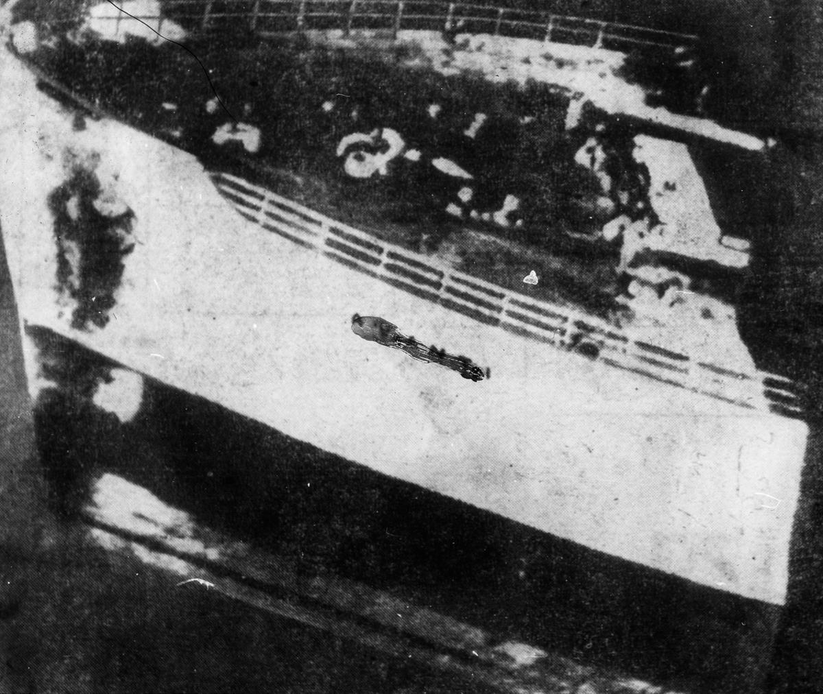 Detalj slagside på et havarert skip, jernfullrigger AVANTI.