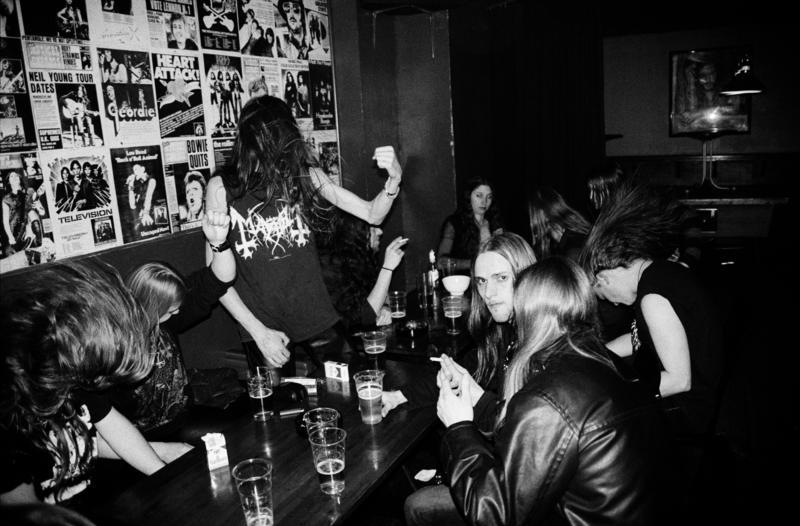 Black metal fans at Elm Street Pub, Oslo 2005 (Foto/Photo)
