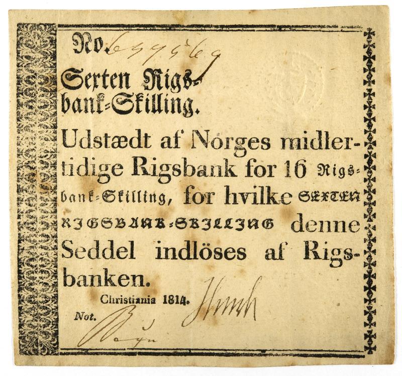 Pengeseddel 1814 (Foto/Photo)
