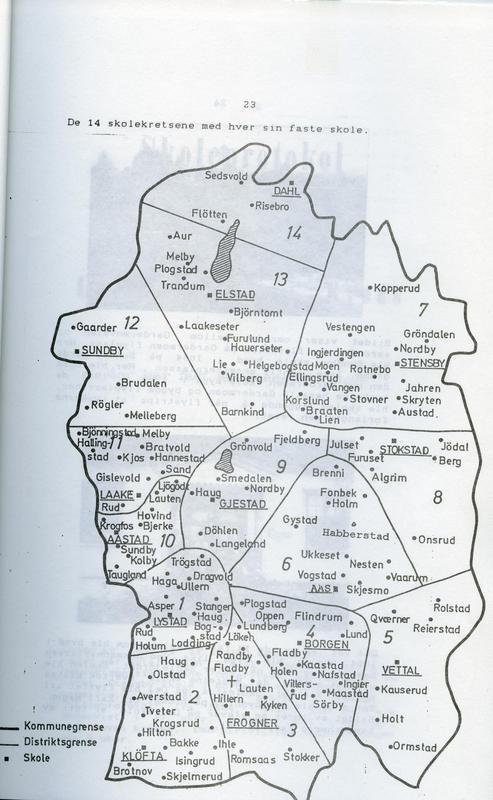 De 14 skolekretsene med hver sin faste skole (Foto/Photo)