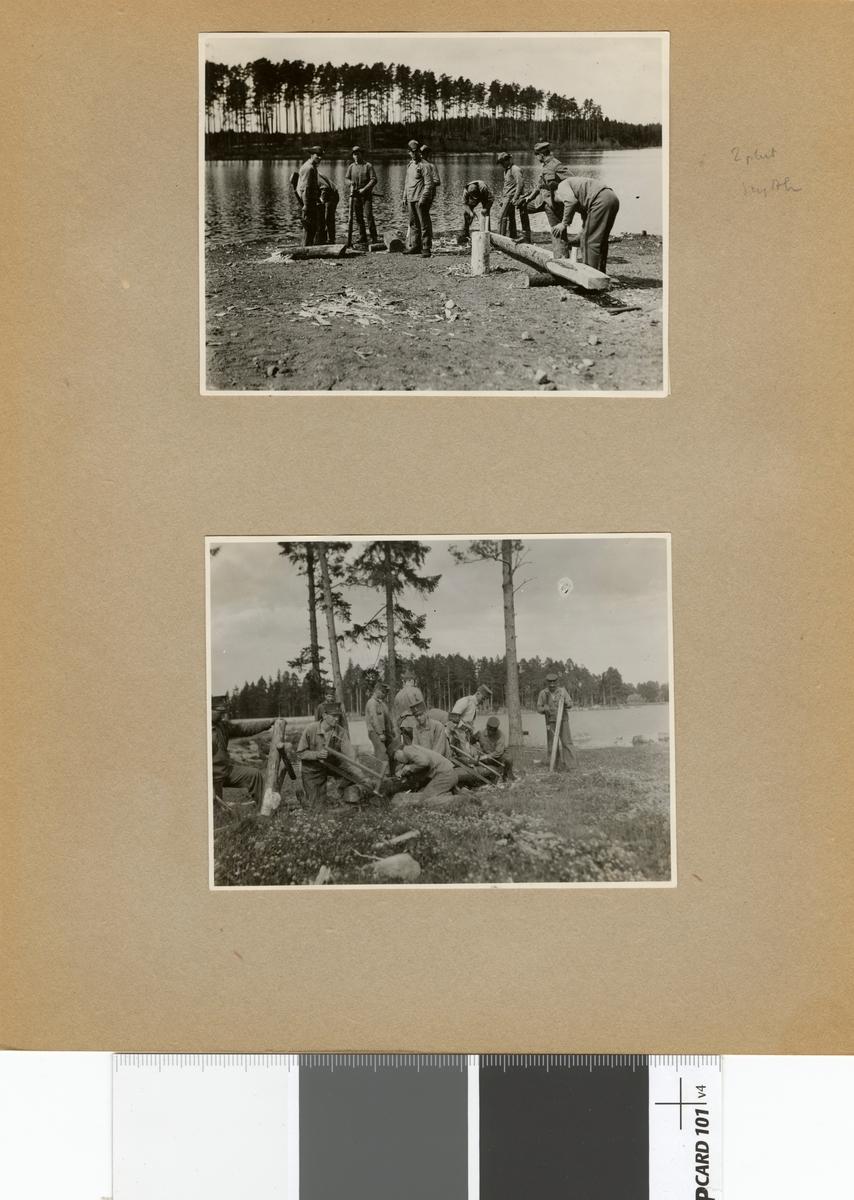 "Text i fotoalbum: ""Sommaren 1929. Skolkompaniet. 2. pluton."""