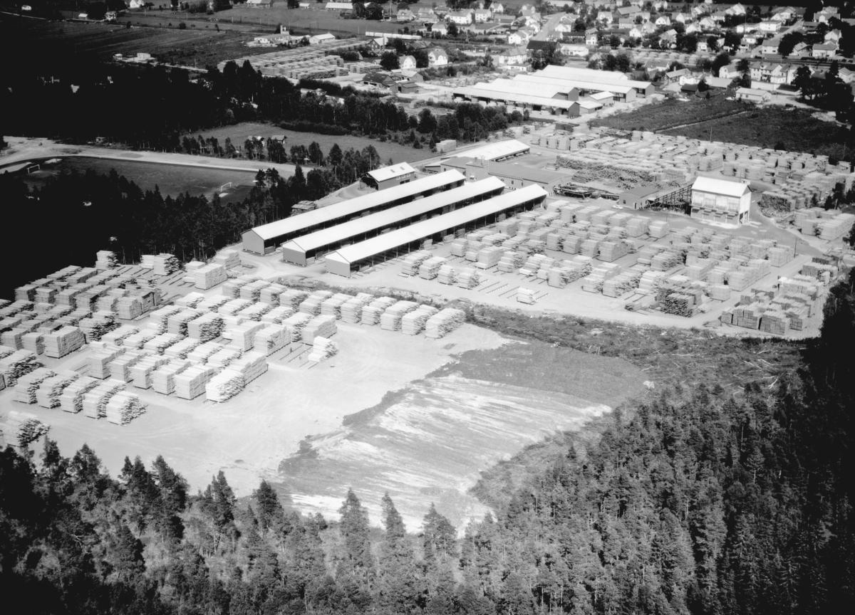 Flygfoto över Stockaryd i Sävsjö kommun, Jönköpings län.  849/1967