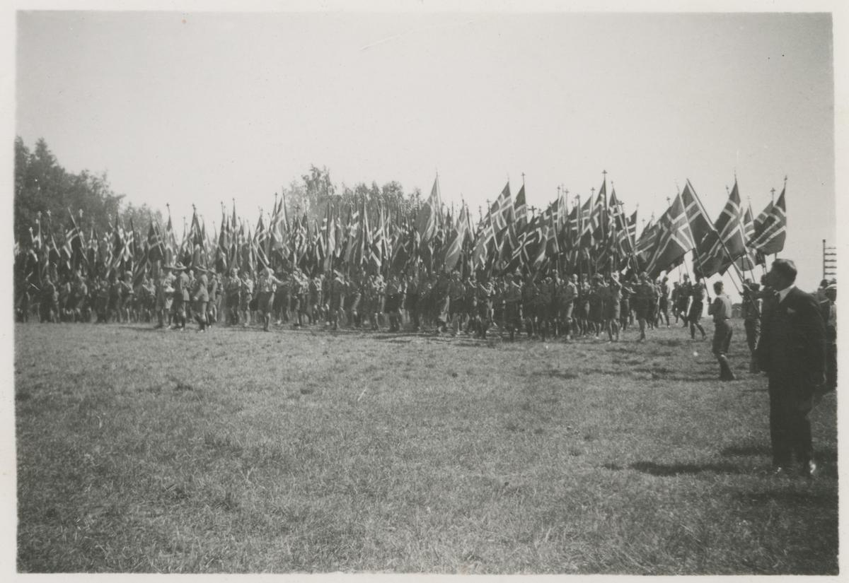 Speiderleir på tronvik i 1936.