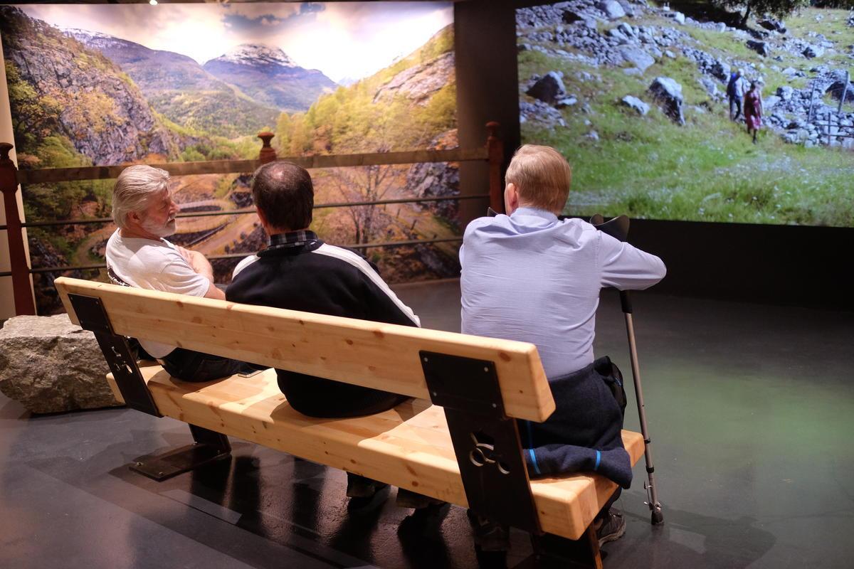 Besøkende på Norsk vegmuseum. Foto: Morten Reiten (Foto/Photo)