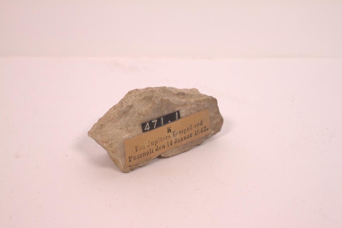 Sten fra Jupiters tempel v/ Puzziolo, funnet 1843