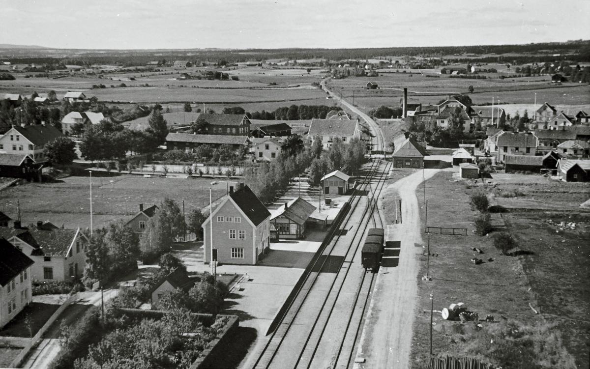 Lena fra taket på kornsiloen 1938