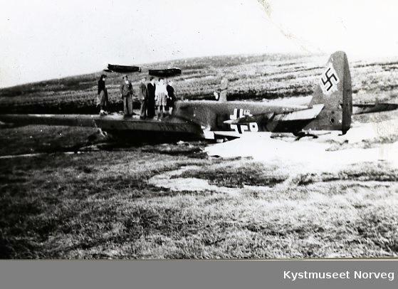 Møre og Romsdal,  nedskutt bombefly på Stadt fra 1940