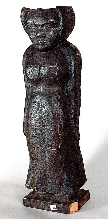 Madonna 1 [Träskulptur]