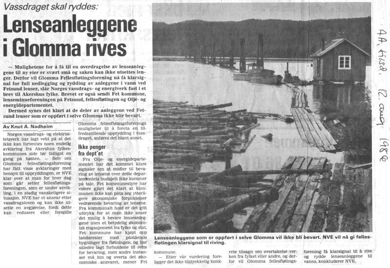 Faksimile fra Akershus Arbeiderblad, august 1986 (Foto/Photo)