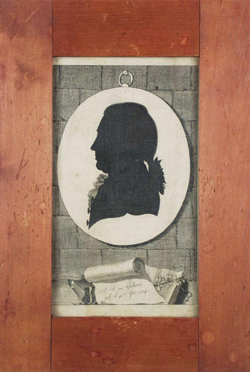 Silhouett av R.R. von Gehren.-