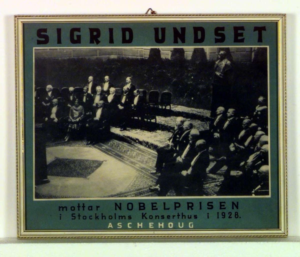 Nobelprisvinnerne ved overrekkelsen av Nobelprisen i Stockholm Konserthus i 1928.