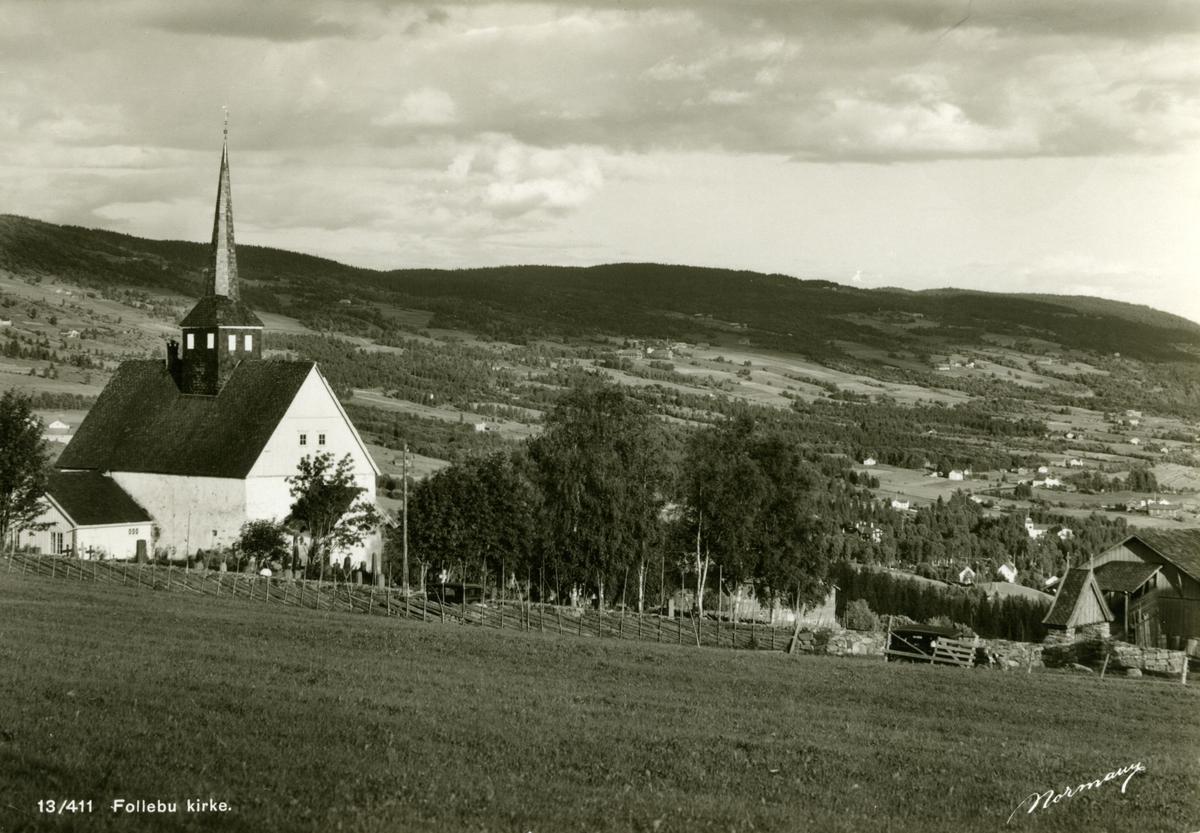 Follebu kirke, postkort