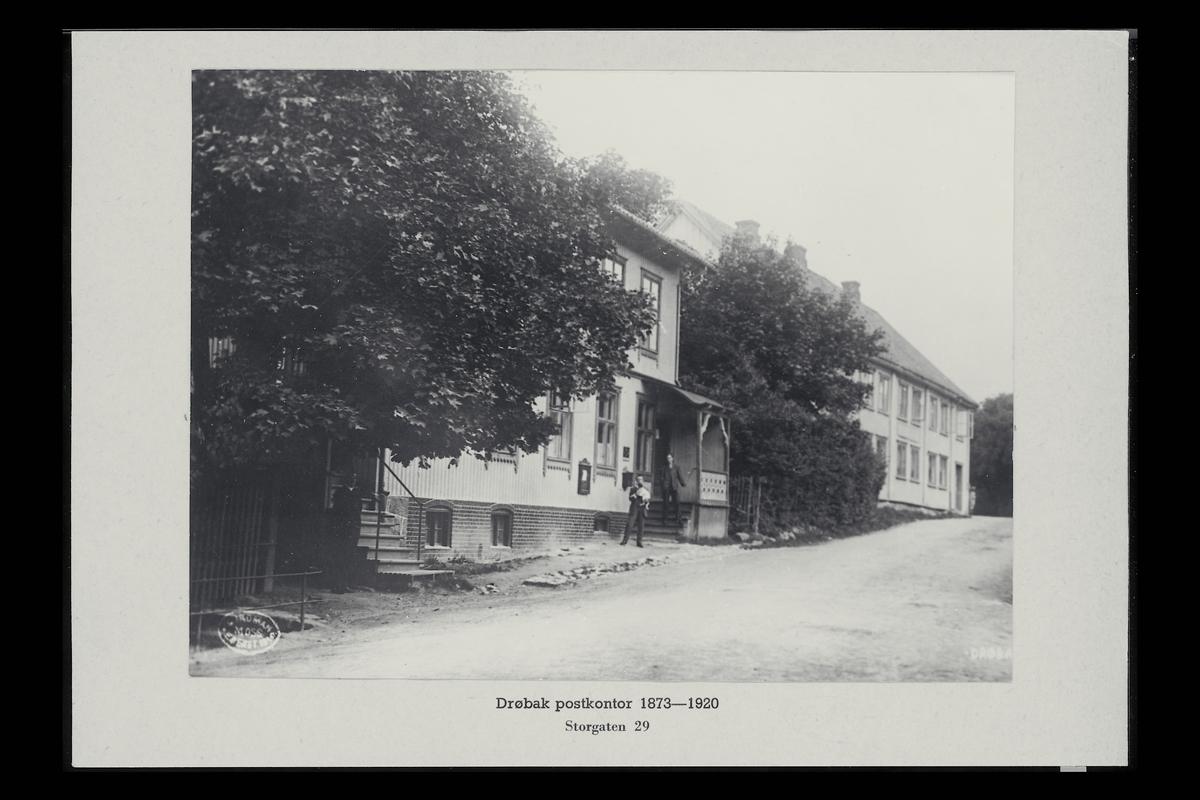 eksteriør, postkontor, 1440 Drøbak, postkasse, menn