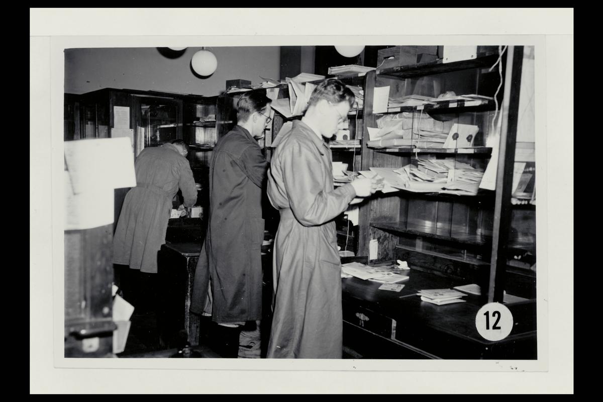 interiør, postkontor, 5002 Bergen, brevavdeling, sortering