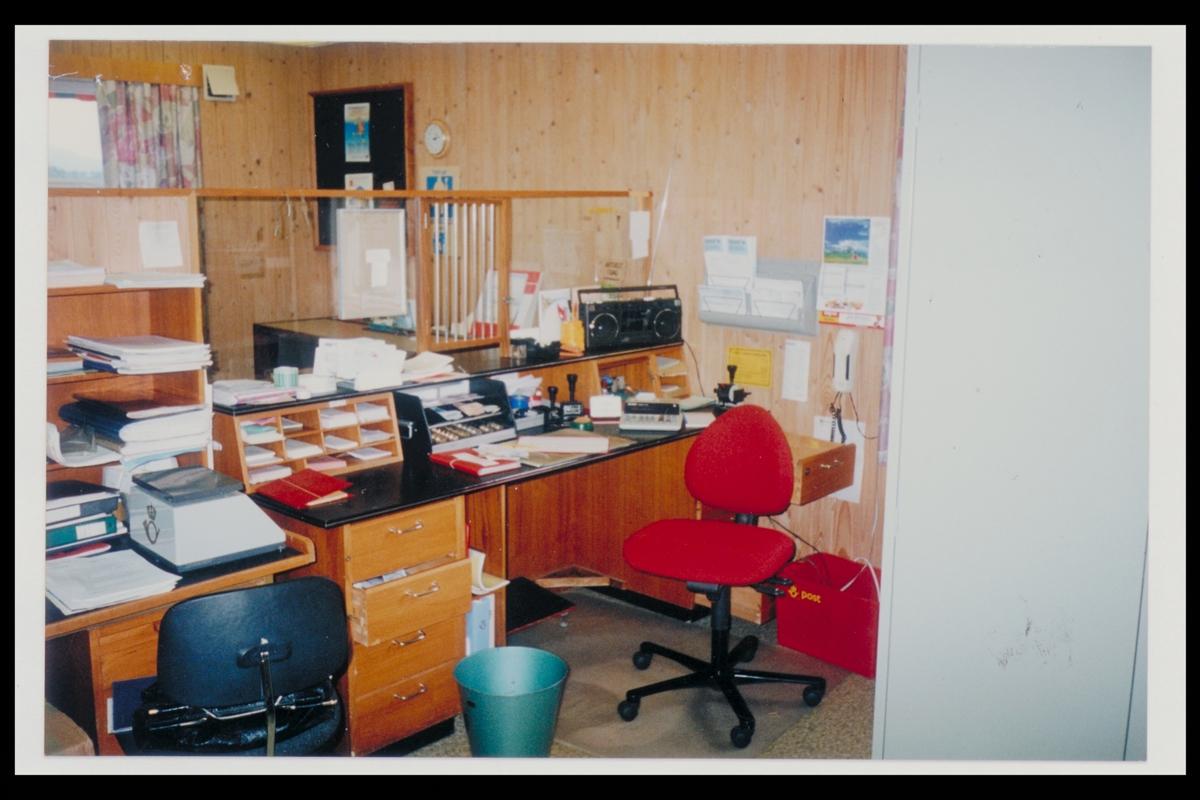 interiør, postkontor, 2252 Hokkåsen, ekspedisjon
