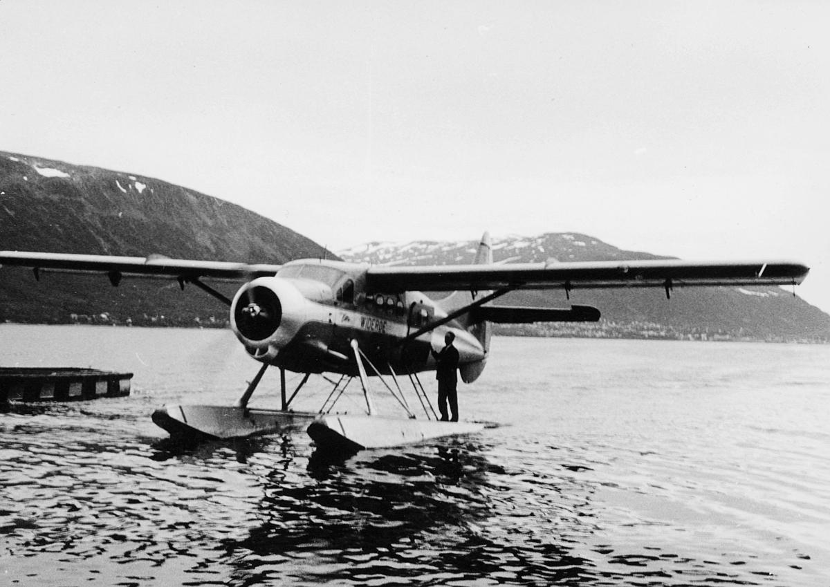 transport, fly, eksteriør, Tromsø, sjøfly, Otterfly, på vann, Tromsø-Bodø