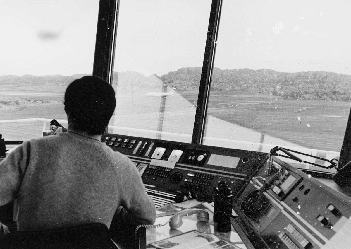 transport, fly, kontrollrommet på flyplass