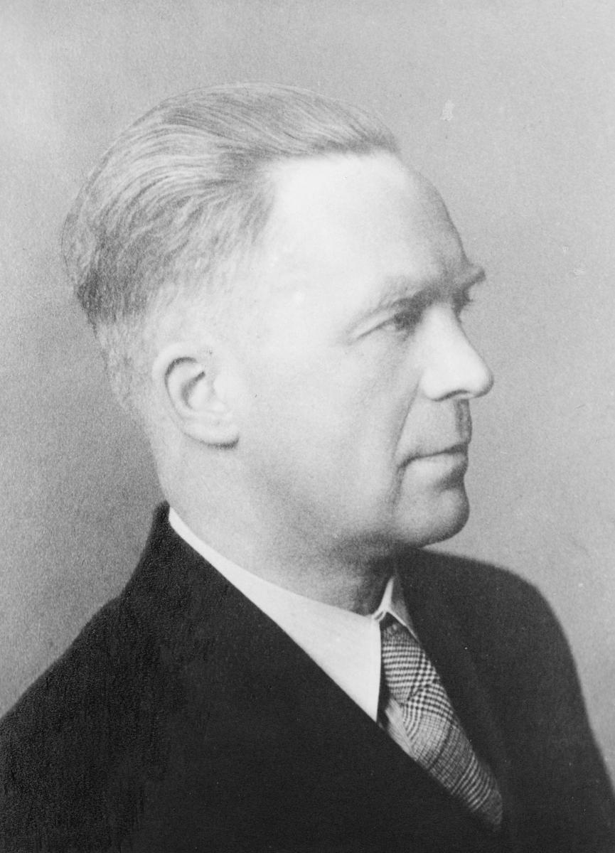portrett, postmester, Ivar Herman Magnussen