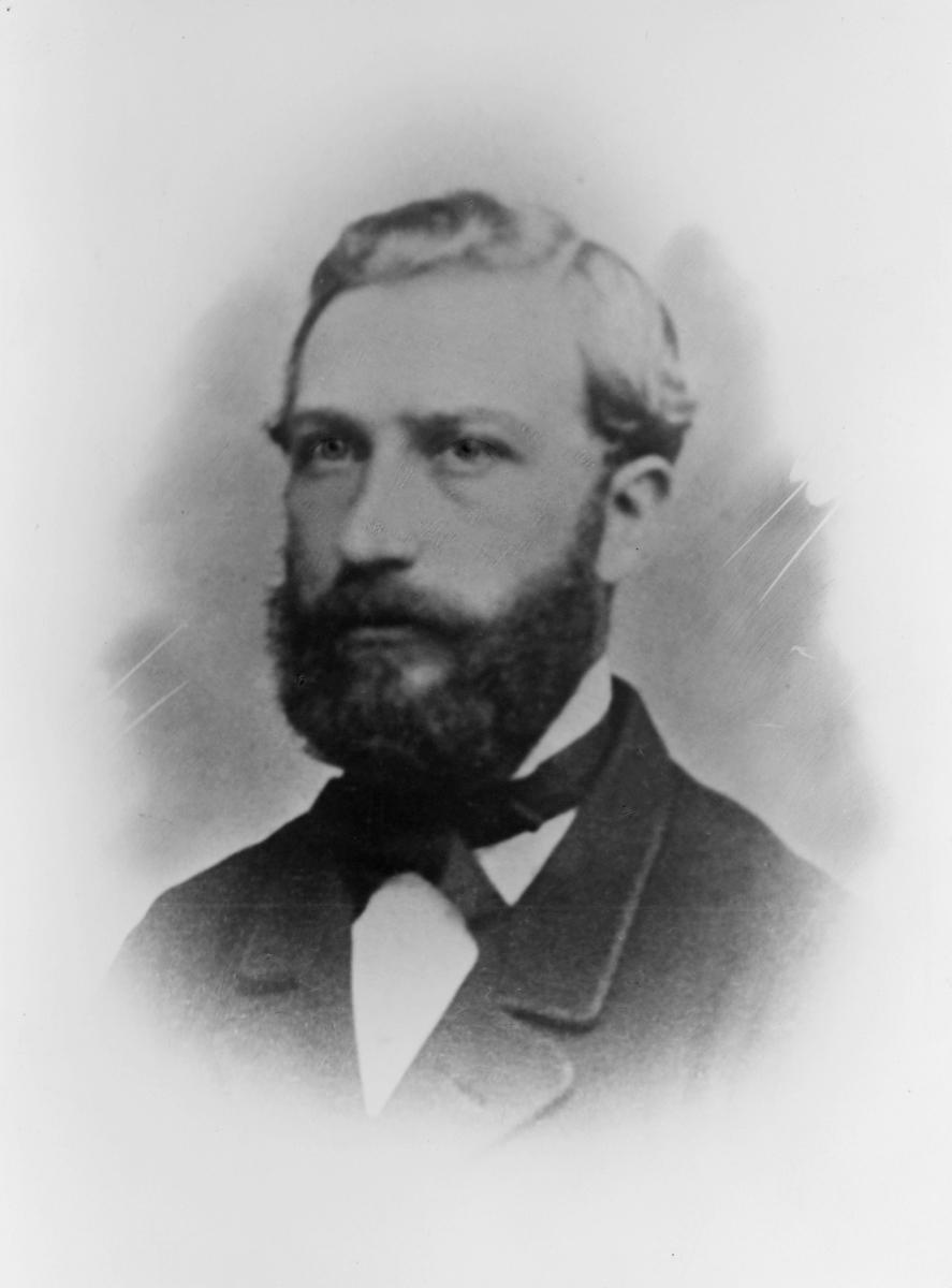 portrett, postmester, Andreas Christiansen Thorp