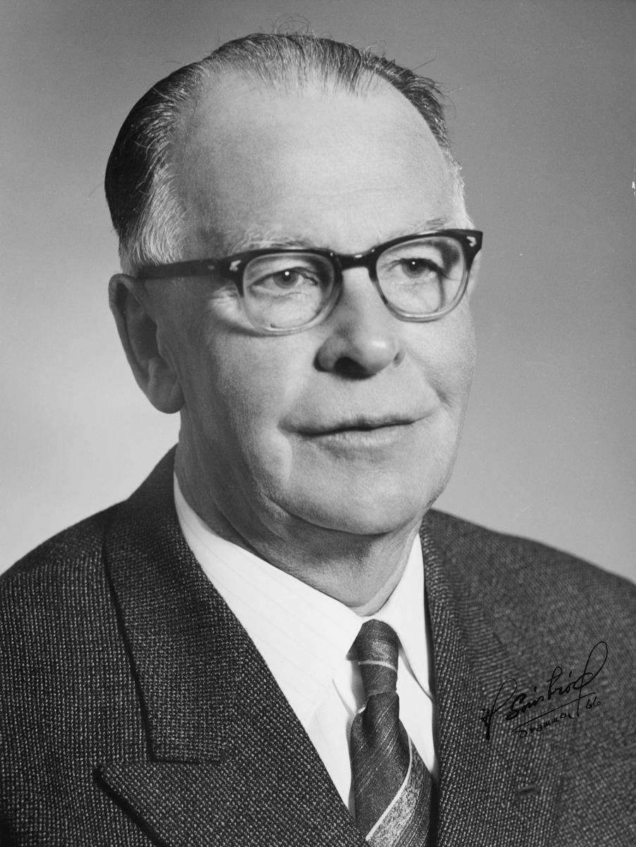 postmester, Davidsen David Hagbarth Bjerke, portrett