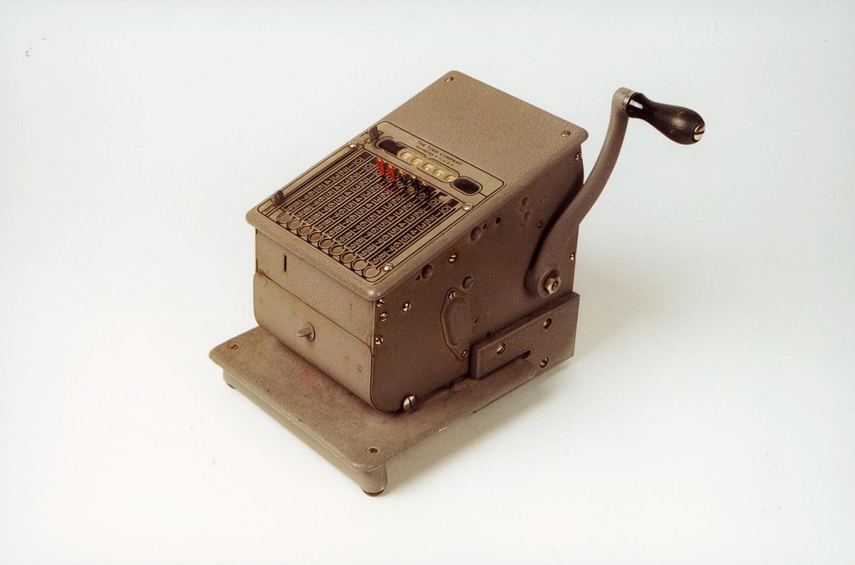 Postmuseet, gjenstander, sikringsmaskin, Todd Century 245 NR6919.
