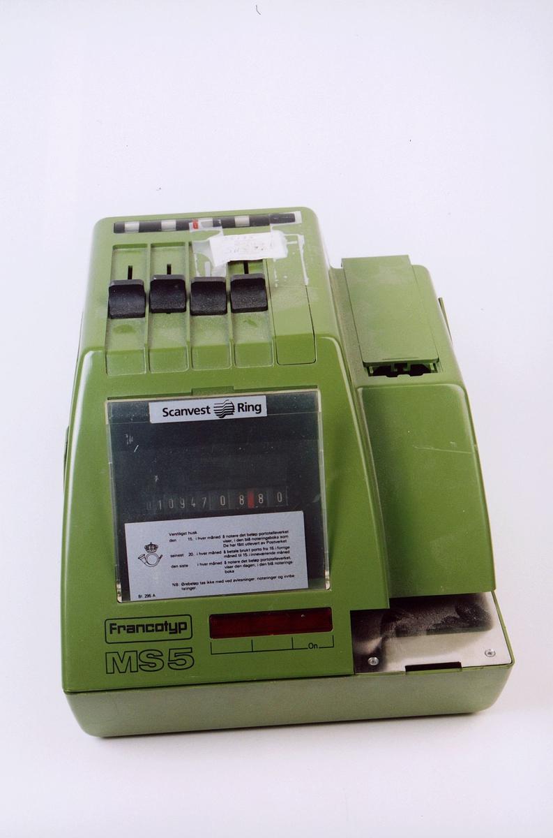 postmuseet, gjenstander, maskin, elektrisk sikringsmaskin, Francotyp MS5 35175