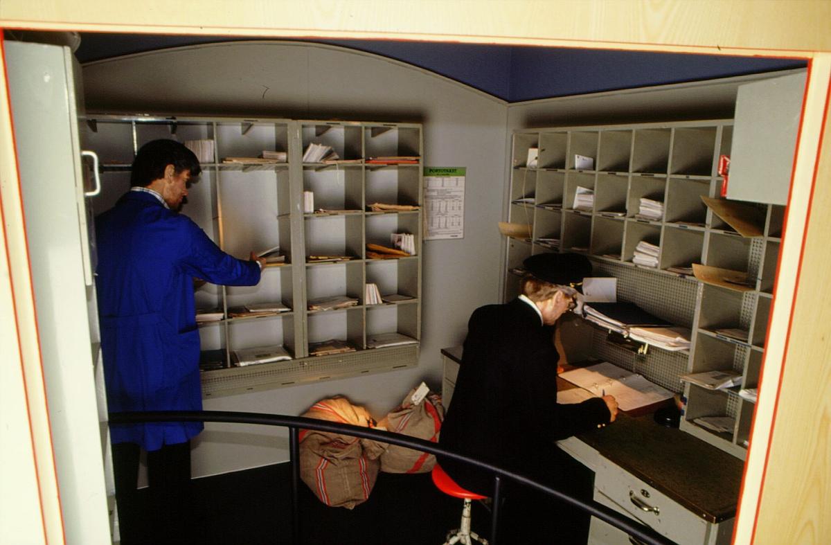 postmuseet, Kirkegata 20, utstilling, postekspedisjon, tog