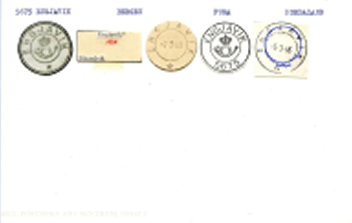 Stempelkatalog, 5675 Engjavik, Bergen, Fusa, Hordaland