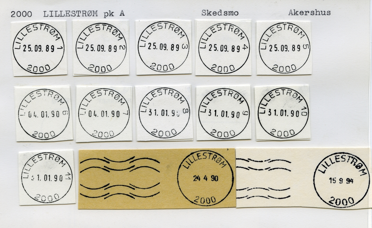 Stempelkatalog 2000 Lillestrøm, Skedsmo, Akershus
