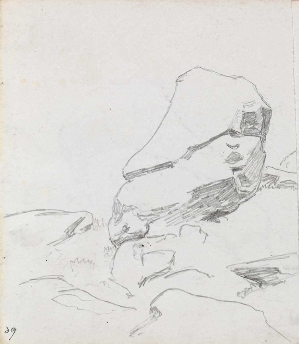 Stor stein [Tegning]