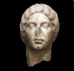 Statue, fragment, hode