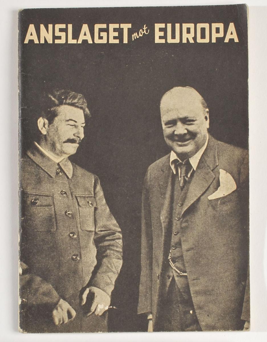 Stalin og Churchill avbildet på forsiden