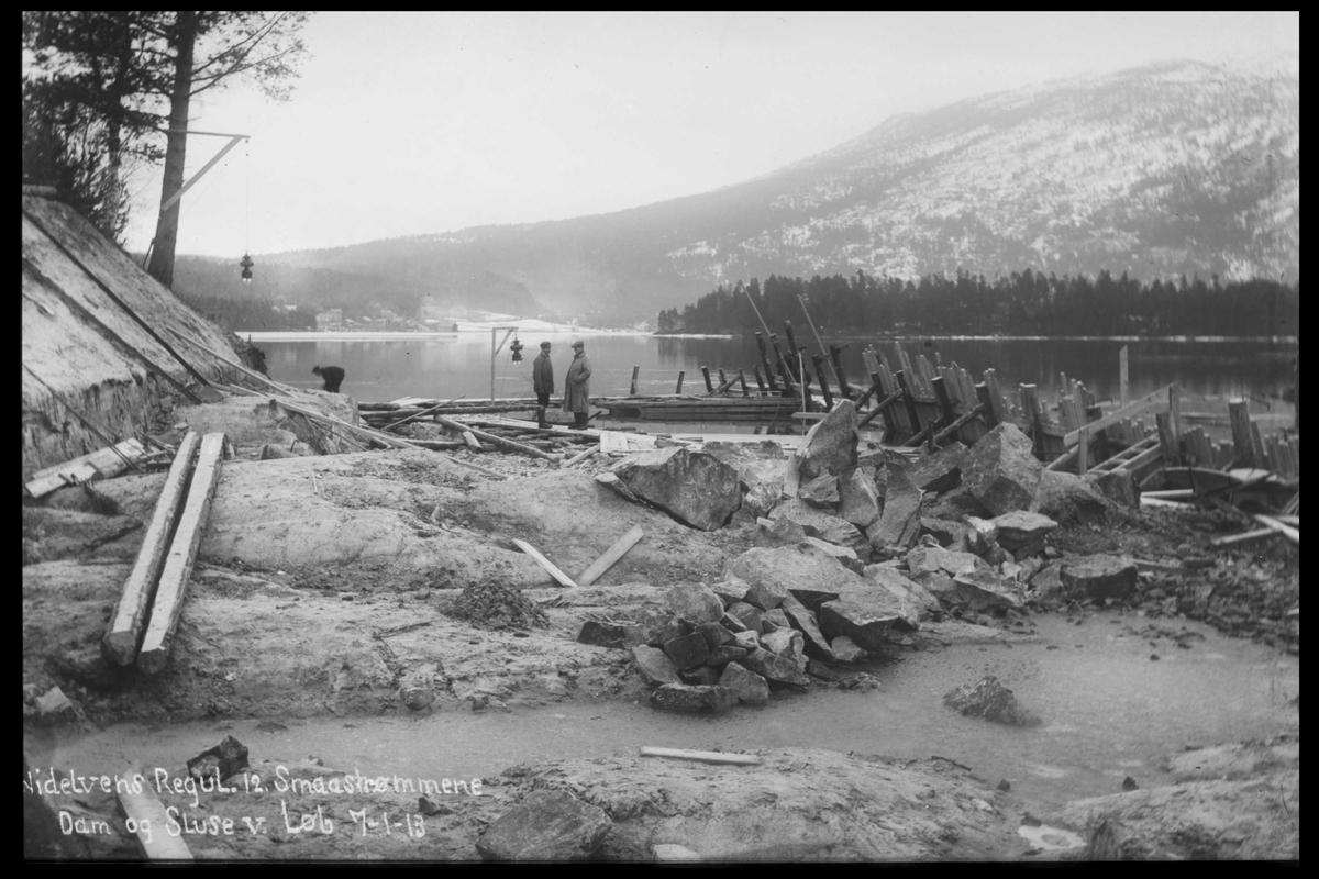 Arendal Fossekompani i begynnelsen av 1900-tallet CD merket 0446, Bilde: 56 Sted: Drangsdammen Beskrivelse: Regulering